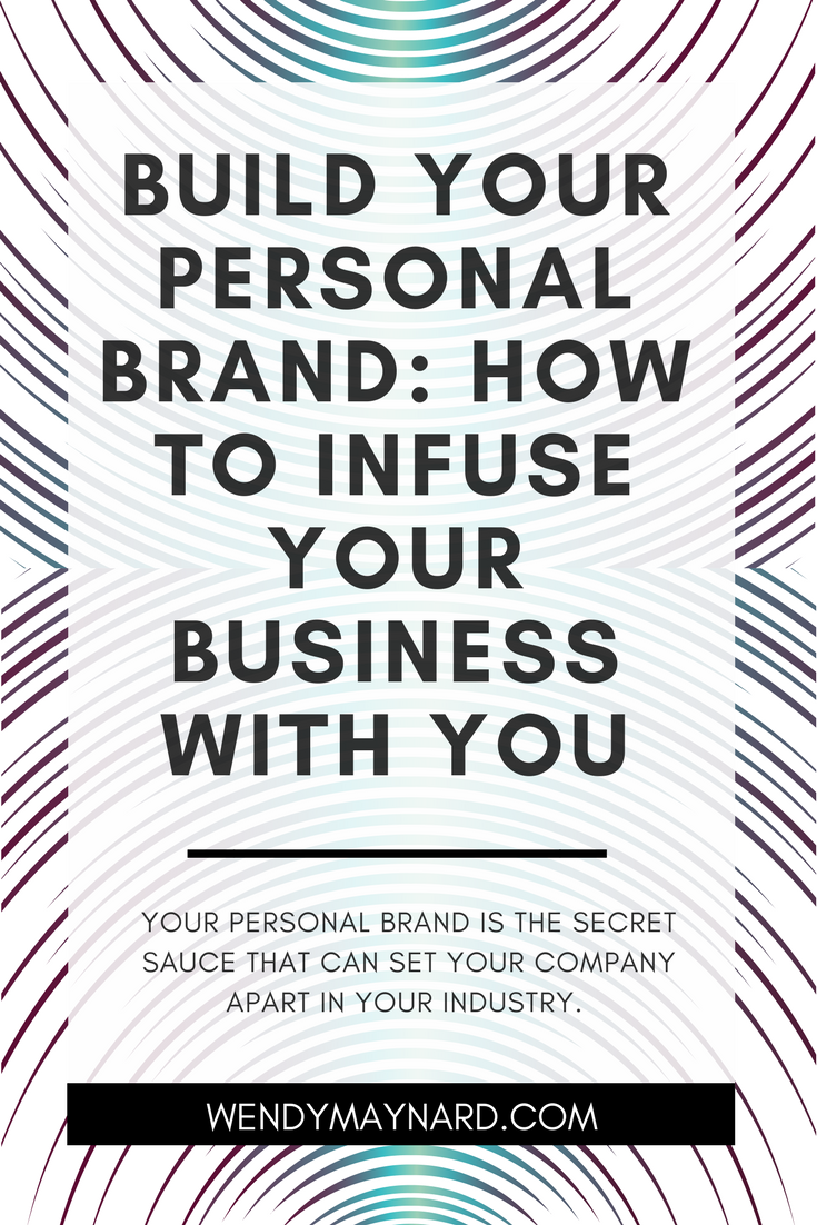 Your personal brand is the secret sauce that can set your company apart in your industry. By being YOU, you develop a brand that is absolutely unique